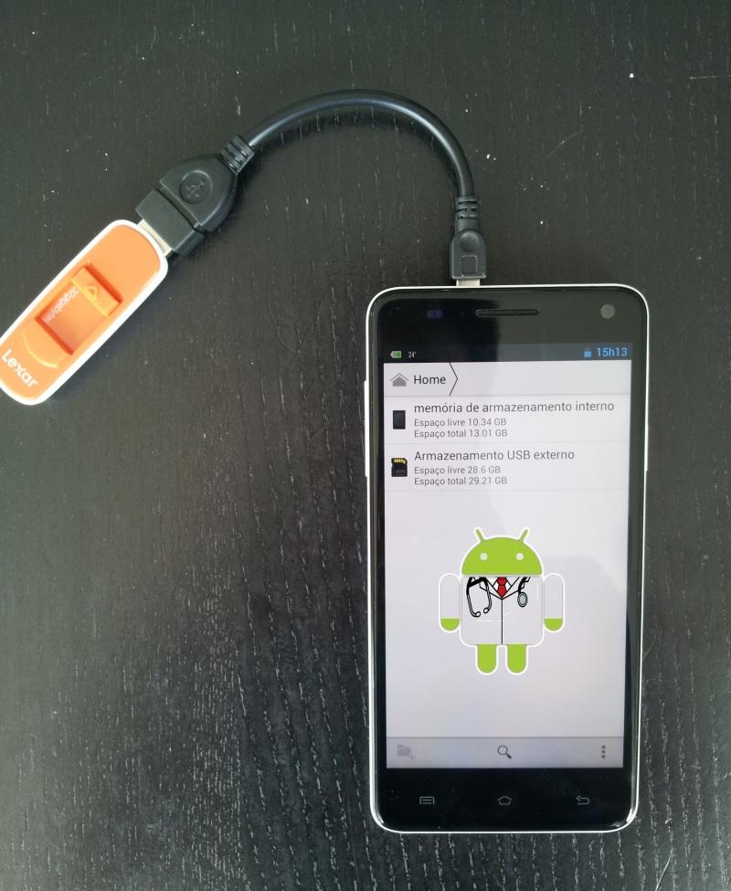 Liga uma pen usb ao teu Android