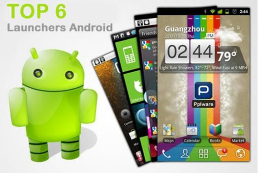 Top 6 Launchers Android no site Pplware - um de muitos artigos na web